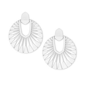 • Kendra Scott • Silver Didi Sunburst Earrings